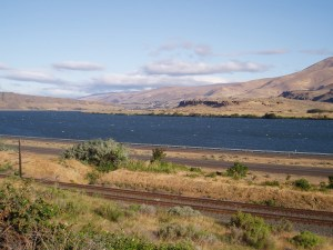 View back along the Columbia River basin